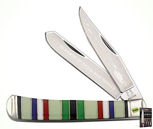 - Rough Rider Desert Storm Veteran Commemorative Trapper Folding Blade Knife + Free eBook By SURVIVAL STEEL
