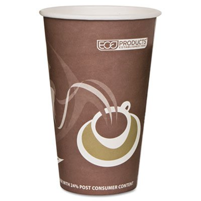 Eco-Products Evolution World PCF Hot Cups, 16 Oz, Purple, Pack Of 50