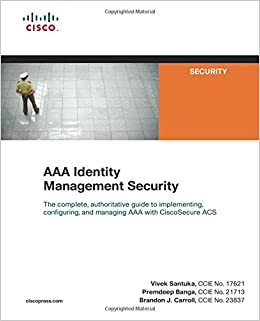 Buy AAA Identity Management Security (Cisco Press Networking