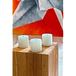 Melt Candle Company Set of 3 Ivory Pillar Candles