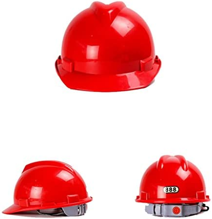 ヘッド保護 建設ヘルメットキャップスタイルのハード帽子調整可能なラチェット4 Ptサスペンションハード非換気帽子調節可能なヘルメットPPエンジニアリングヘルメ 作業安全装置 (色 : 青)