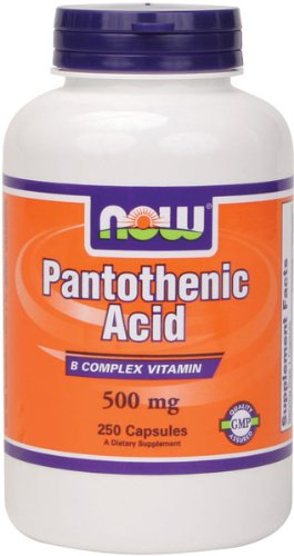 NOW Foods Acide pantothénique 500 mg, 250 Capsules