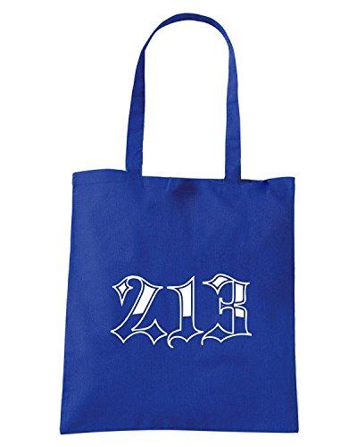 T-Shirtshock - Bolsa para la compra FUN0341 213 area code shirt Azul Real
