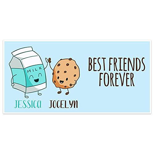 Cute Milk and Cookies Happy Friendship Day Personalized Banner - Happy Cookie Day