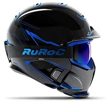 Ruroc RG1-DX - Casco de esquí y Snowboard, Color Chaos Ice ...