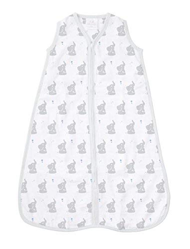 aden by aden + anais Classic Sleeping Bag, 100% Cotton Muslin, Wearable Baby Blanket, Baby Star, Medium, 6-12 Months