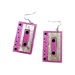 CutieJewelry Cassette Tape Dangle Cute Pretty Earrings