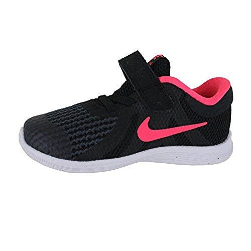 Nike NIKE REVOLUTION 3(TDV) Laufschuhe, Mädchen Schwarz (Black/Racer Pink. 004)