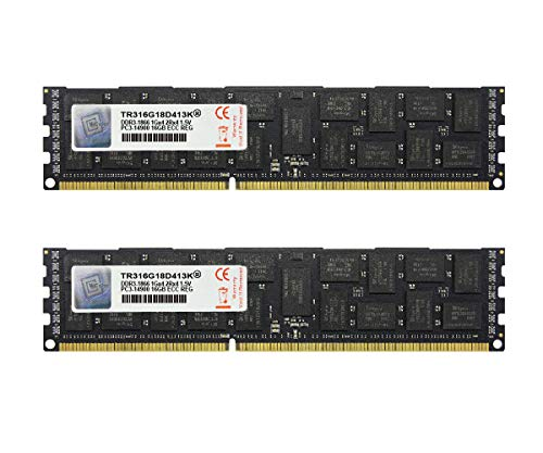 V-Color 32GB (2 x 16GB) Dual Rank Server Memory Ram Module Upgrade DDR3 1866MHz (PC3-14900) ECC Registered DIMM for Apple Mac Pro 1.5V CL13 2Rx4 (TR316G18D413K)