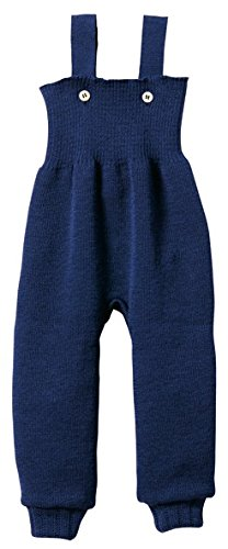 Disana 100% Organic Merino Wool Knitted Trausers/pants Made in Germany (0-3 Months, Navy)