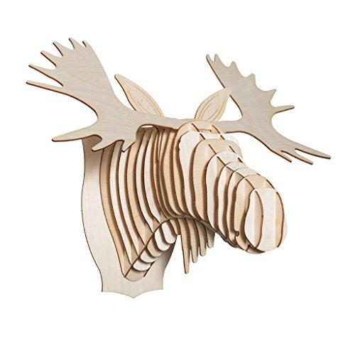Cardboard Safari Baltic Birch Plywood Animal Taxidermy Moose Trophy Head, Fred Large ()