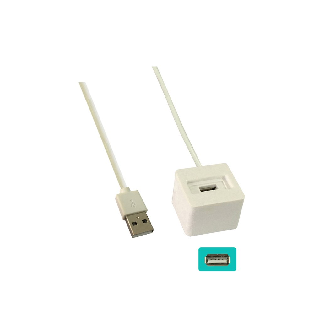 Mouse A Male to Female Extension Cable USB 2.0 Extender Cord Compatible Flash Drive Card Reader 6inch Keyboard Lesenlink Short USB 2.0 Extension Cable Scanner Printer