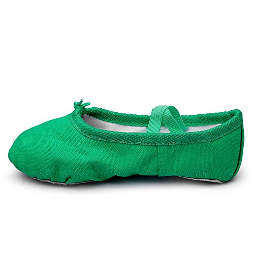 Msmax Klassisk Ballett Danse Flat Yoga Praksis Sko Grønne