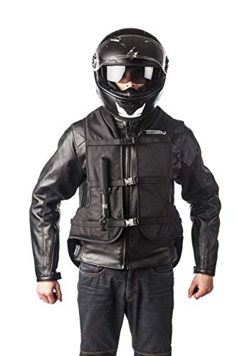 HELITE Unisex-Adult Turtle Motorcycle Airbag Vest (Black, X-Large)