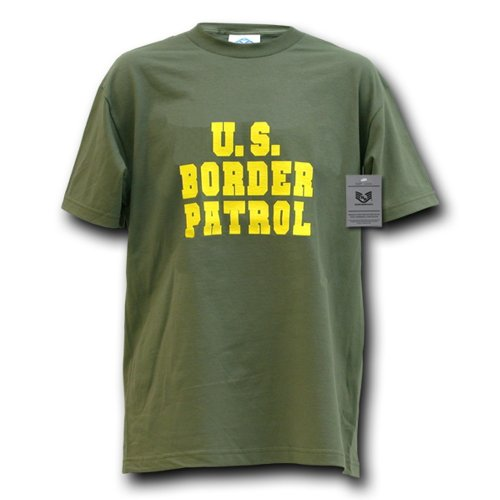 Rapiddominance Border Patrol Law Enforcement Tee, Olive, X-Large