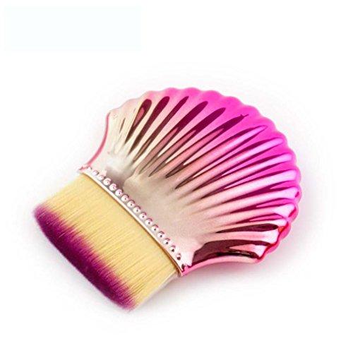 Shell Bottom Makeup Brush Set Premium Cosmetic Brushes for F