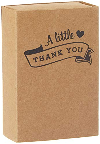 Ginger Ray AF-697 Kraft Matchbox Wedding Favour Boxes-10 Pack