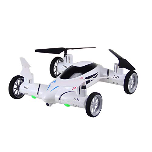 Pstars RC Flying Car Quadcopter 2 in1 Drone Air Ground Remote Control Toys with LED Lights Land-to-air Quadcopter 8 Channel 4 Rotor Helicopter Remote Control Flying Car