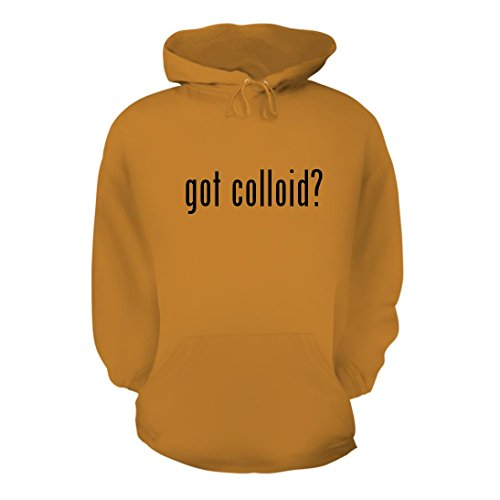 got colloid? - A Nice Men's Hoodie Hooded Sweatshirt, Gold, Large (Colloidal Gold Generator)