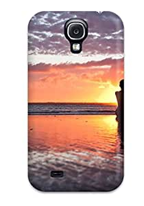 Galaxy Case - Tpu Case Protective For Galaxy S4- Sunset Photography Women Beach People Photography