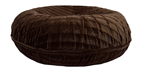 Bessie and Barnie Signature Godiva Brown Extra Plush Faux Fur Bagel Pet / Dog Bed (Multiple Sizes) Review