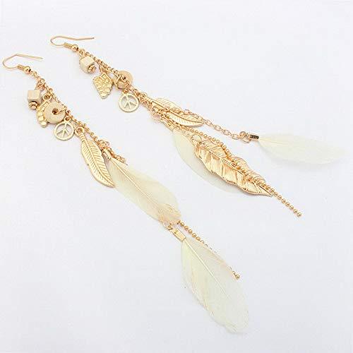 Dokis Fashion Women Lady Long Tassel Fringe Chain Ear Stud Dangle Drop Earrings | Model ERRNGS - 2774 |