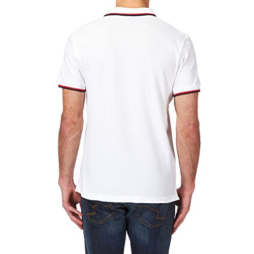 Canterbury Tipped Polo Shirt - White/carbon/chinese Red