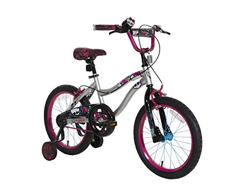 Monster High Bike with Blue Tooth Speaker, Silver/Black/Pink, 18'' by Monster High
