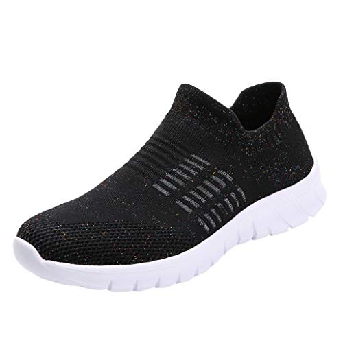 - Women's Running Shoes Fashion Breathable Sneakers Mesh Soft Sole Casual Athletic Lightweight,Londony Work Sneakers Black