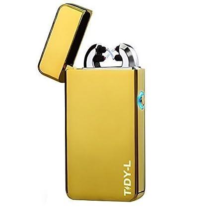 Hegg Tidy-L Mechero led de arco eléctrico, dorado, 70x34x11 mm ...