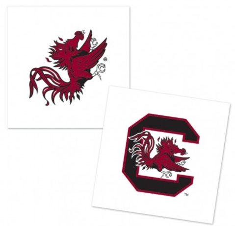 Wincraft NCAA Official University of South Carolina Gamecocks 4-pack Tattoos