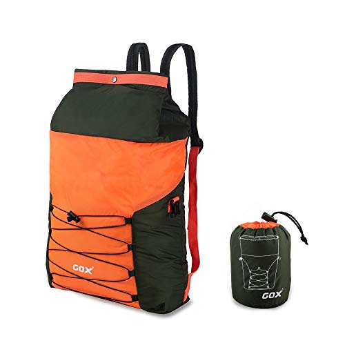 GOX Lightweight Packable Backpack Small Handy Travel Hiking Daypack