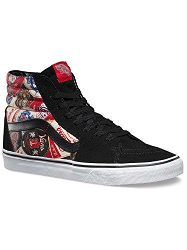 Vans Unisex Sk8-Hi (Labels) Skate Shoe-Labels/Black-9-Women/7.5-Men