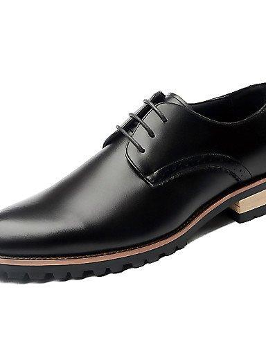 0.5cordones zapatos de hombre Oficina y Trabajo/Casual/planeta y el Día de piel negro/azul/marrón/Borgoña marrón
