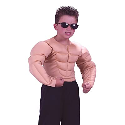 Halloween FX Muscle Shirt Child Costume - Medium (8-10): Toys & Games