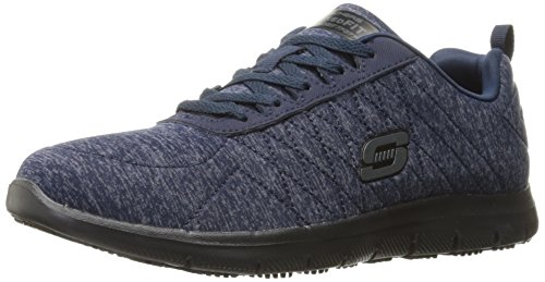 Skechers for Work Women's Ghenter Work Boot,Navy Blue,7.5 M US by Skechers