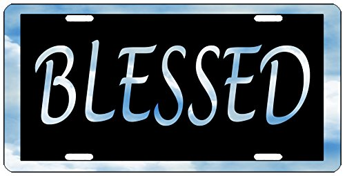 - Rogue River Tactical Blessed License Plate Novelty Auto Car Tag Vanity Gift
