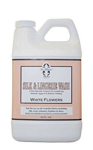 Le Blanc White Flowers Silk & Lingerie Wash - 64 FL. OZ., One (Wash Silk Fabric)
