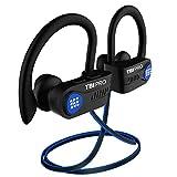 TBI Pro [Upgraded 2020] Bluetooth Headphones w/10+ Hours Battery - Sport Ergonomic Lightweight, IPX7 Waterproof - Best Wireless Earphones w/Mic in-Ear Earbuds Powerbeats Style for Gym Running Workouts