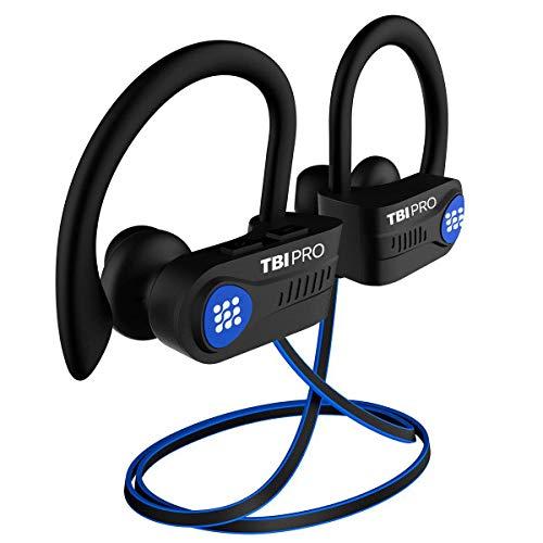 Bluetooth Headphones w/10+ Hours Battery - Sport Ergonomic Lightweight, IPX7 Waterproof - Wireless Earphones w/Mic in-Ear Earbuds Powerbeats Style for Gym Running Workouts