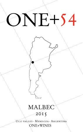 One +54 - Malbec 2015 - Valle de Uco, Mendoza, Argentina - 750 ml