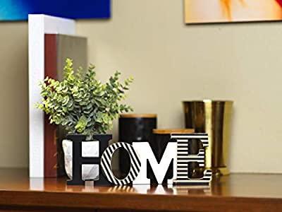 10 Street Home Modern Rustic Wood Home Decorative Sign, Standing or Wall Mount Cutout Word Decor