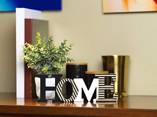 "10 Street Home Modern Rustic Wood Home Decorative Sign, Standing or Wall Mount Cutout Word Decor, Living Room Accent… - GIVES YOU THE WARM FEELING OF BEING HOME - Make your place feel more like home with this great accent piece MODERN RUSTIC "" HOME "" DECOR - Neutral colors that looks great and accents your entryway, living room or bedroom FREE STANDING or WALL MOUNT - Display by standing on your bookshelf, mantle, coffee table, countertop or wall-mount using built-in D-rings - living-room-decor, living-room, home-decor - 41ZYsZoJ0LL -"