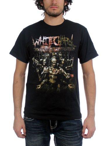 Whitechapel - Mens A New Era of Corruption T-Shirt in Black, Size: Large, Color: Black