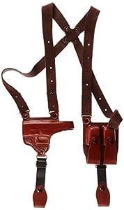 Tagua SH4-333 Full Slide Shoulder Holster, Glock 26-27-33, Brown, Left Hand