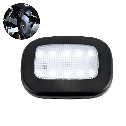 Car Ceiling Roof Dome Light, 2W RV Magnetic Dome Light Fixture Universal USB Rechargeable Wireless LED Car Dome Ceiling Lamp with 10 Led for RV, Trailer, Camper, Motorhome, Boat. 9.5mm Extra Slim