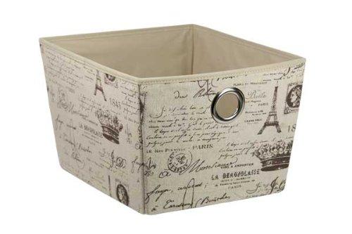 Home Basics SB01761 Non-Woven Storage Box, Large, Paris