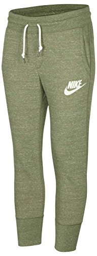Vintage Baseball Pants - NIKE Women's Gym Vintage Sport Casual Capris-Palm Green-XS