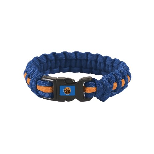 """New York Knicks Official NBA Adult S/M 8"""" Long Survival Bracelet by Wincraft"""