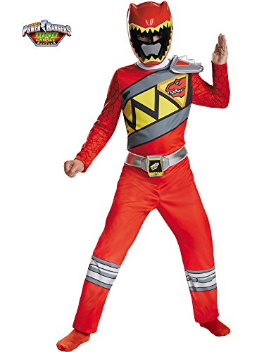 Disguise Red Ranger Dino Charge Classic Costume, Medium (7-8) -